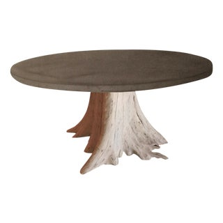 SF Showcase Custom Tree Trunk Dining Table