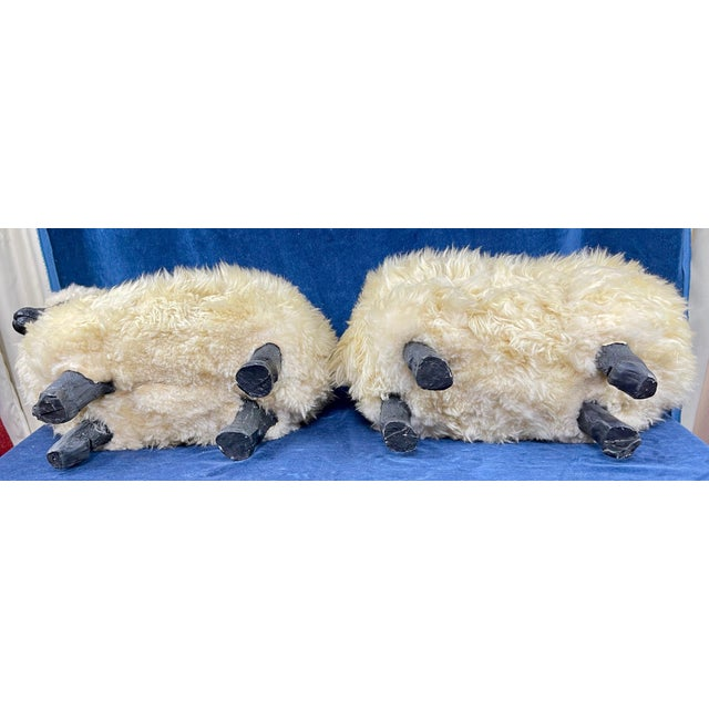 Late 20th Century Lalanne Style Sheep Footstools - a Pair For Sale - Image 10 of 11