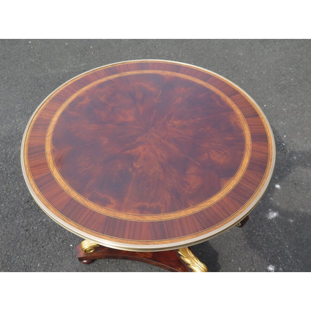 Traditional Traditional Theodore Alexander Althorp Round Mahogany Occasional Table For Sale - Image 3 of 11