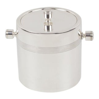 Ercuis France 1970s Silver Plate Ice Bucket Cooler For Sale