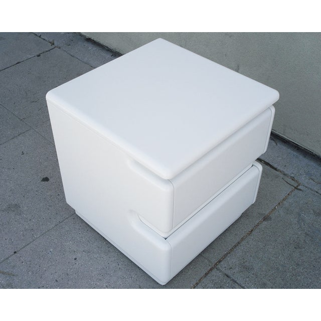 White Lacquer Night Stands by Rougier - Pair For Sale - Image 5 of 6
