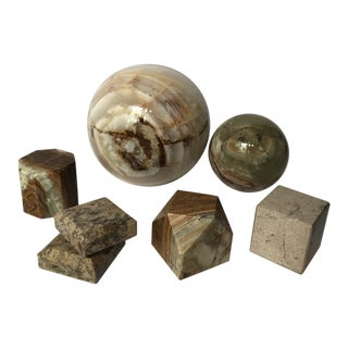 Collection of Onyx Marble Objects For Sale