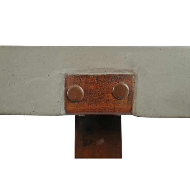 2020s Outdoor Cement & Iron Console For Sale - Image 5 of 9