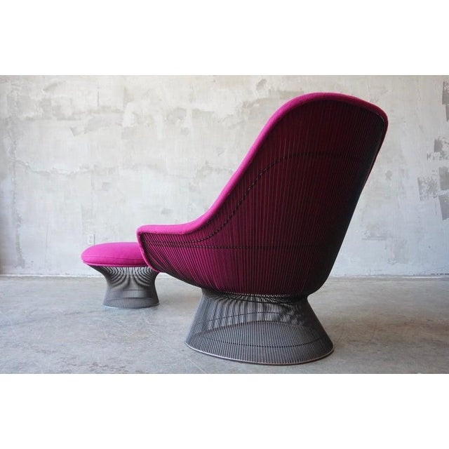 Warren Platner Brozne Easy Chair With Ottoman For Sale - Image 9 of 10