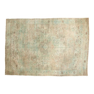 "Vintage Distressed Heriz Carpet - 7'7"" X 10'10"""