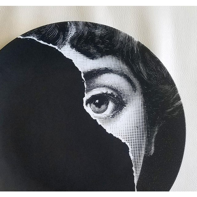 Contemporary Fornasetti Tema E Variazioni Plate, Number 145 For Sale - Image 3 of 3