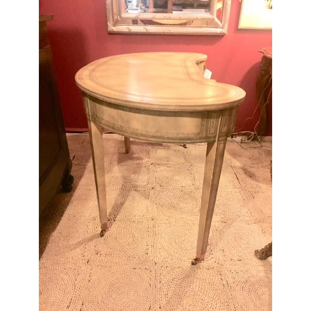 Maitland-Smith Cream Leather Writing Desk For Sale - Image 10 of 12