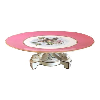 Mid 19th Century Hand-Painted Old Paris Cake Stand For Sale