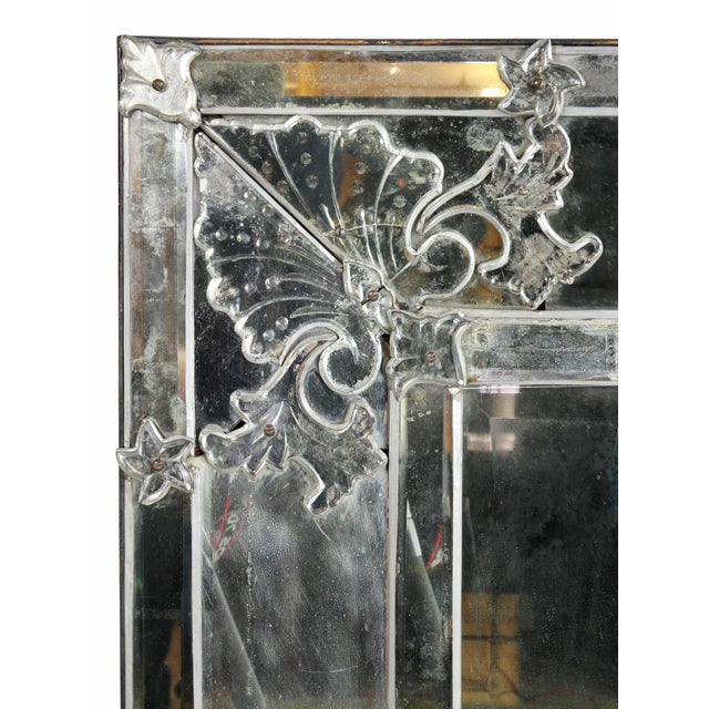 Mid-Century Modern Venetian Glass Mirror For Sale - Image 3 of 8