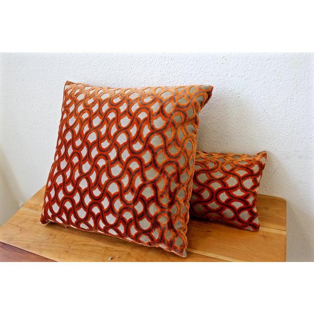 Large Orange Cowtan Tout Astrid Pillow - Image 3 of 4