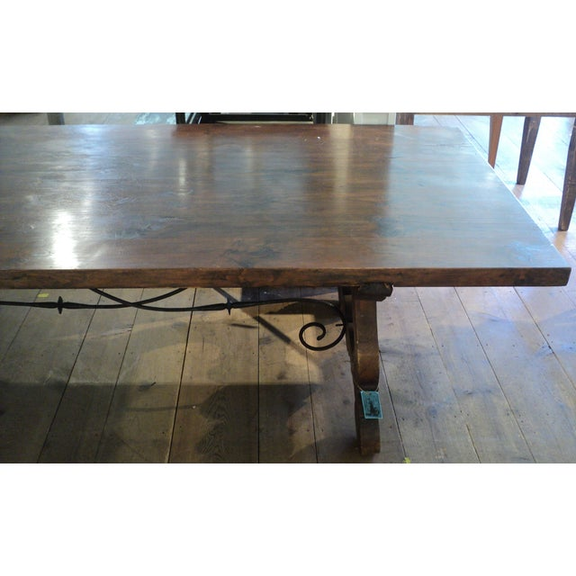 Antique Baroque Large Harvest Table - Image 8 of 11
