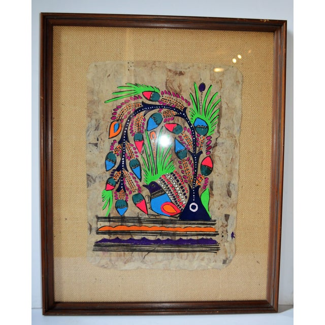 Otomi Mexican Folk Art Amate Painting - Image 9 of 9