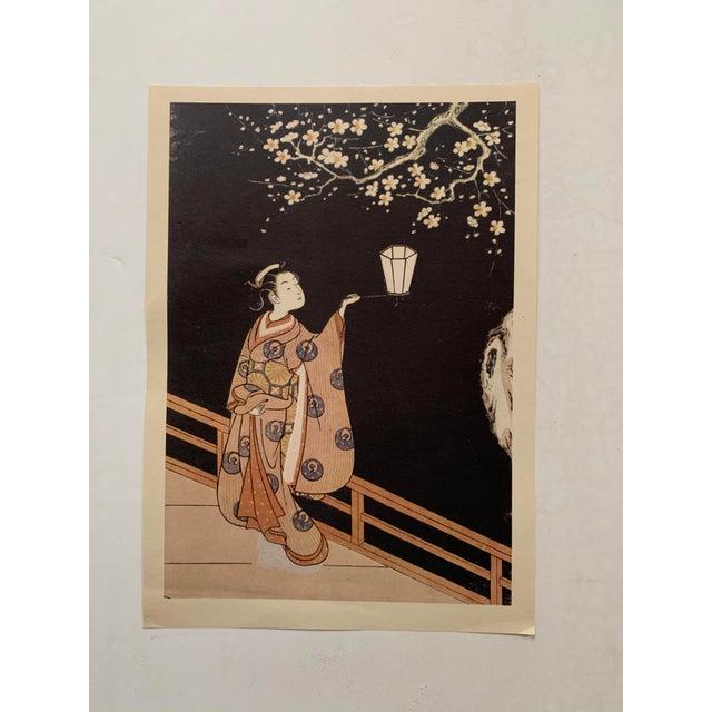 Suzuki Harunobu ( 1725 - 1770 ) Japanese Woodblock Print For Sale - Image 13 of 13
