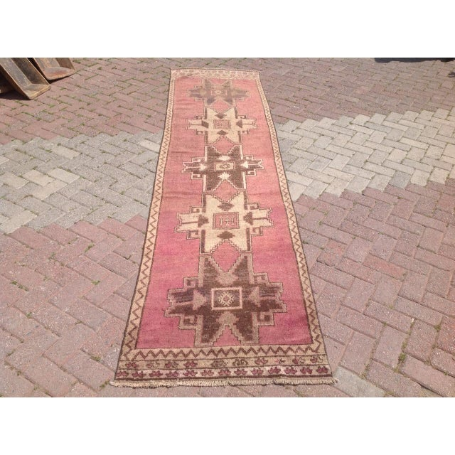 Islamic Vintage Hand Knotted Anatolian Runner For Sale - Image 3 of 8