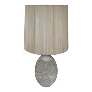 1950s Lee Rosen for Design Technics Textured Ceramic Lamp With Original Shade For Sale