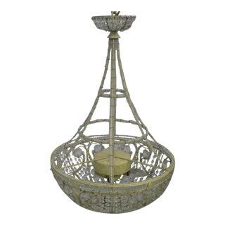 Vintage Italian Style Beaded Chandelier For Sale