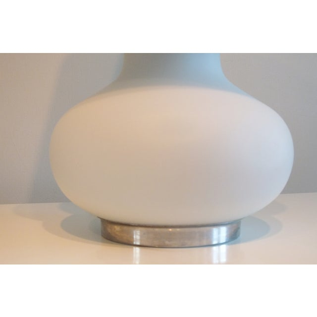 "Mid-Century 22"" Tall Frosted Glass Lamp - Image 6 of 10"