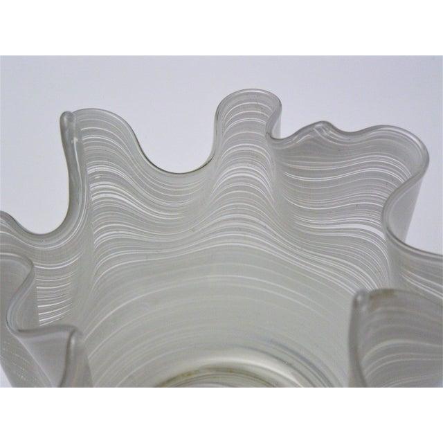 Art Glass Vintage Aureliano Toso Murano Venetian Handkerchief Glass Vase-1950s Italian Italy Mid Century Modern MCM Millennial For Sale - Image 7 of 11