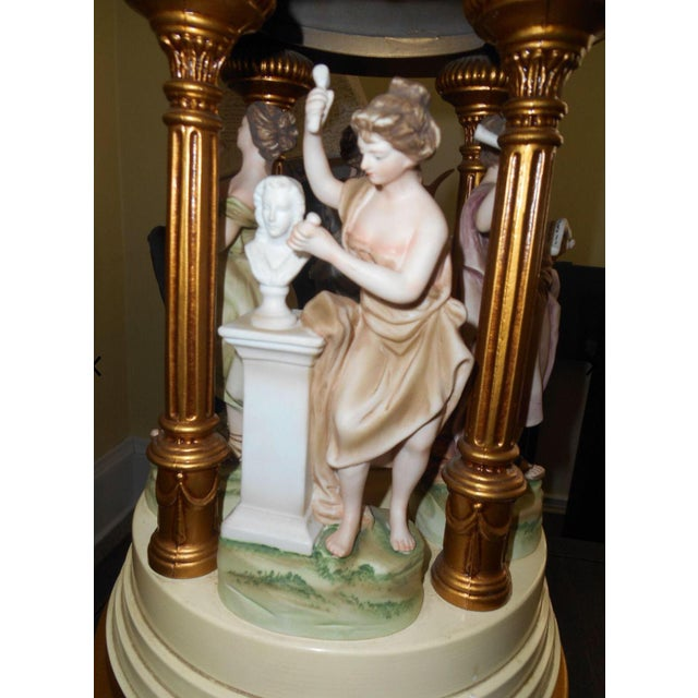 French Dresden Style Porcelain Figurine Lamp For Sale In Cleveland - Image 6 of 8
