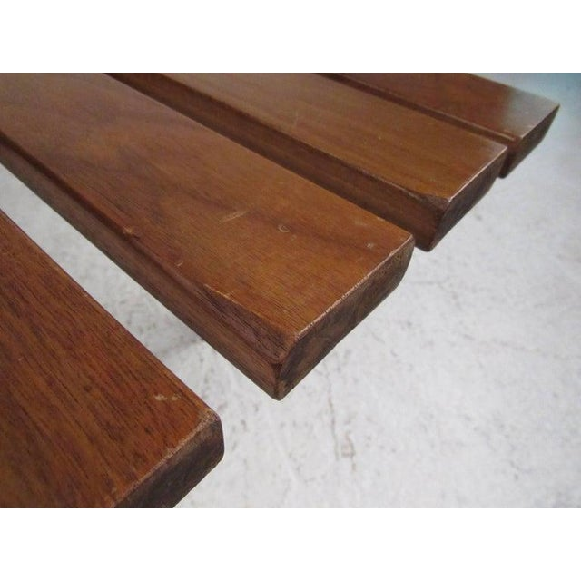 Coffee Mid-Century Modern Slat Bench Coffee Table For Sale - Image 8 of 11