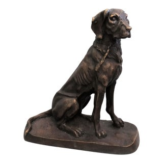 Early French Bronze Sporting Dog For Sale