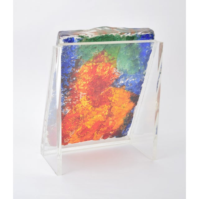 "1970s Vintage ""The Flutist"" Reuven Rubin & Egidio Constantini Art Glass Sculpture For Sale In Chicago - Image 6 of 10"