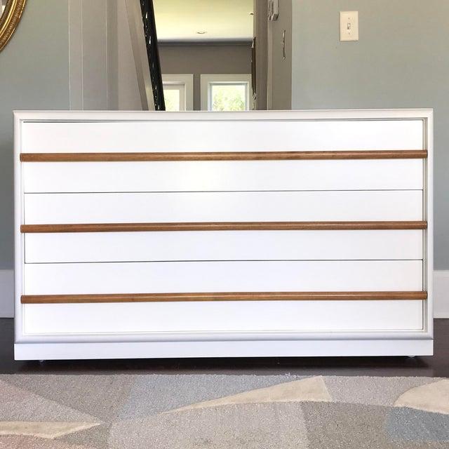 White Robsjohn-Gibbings White Lacquer Dresser For Sale - Image 8 of 8