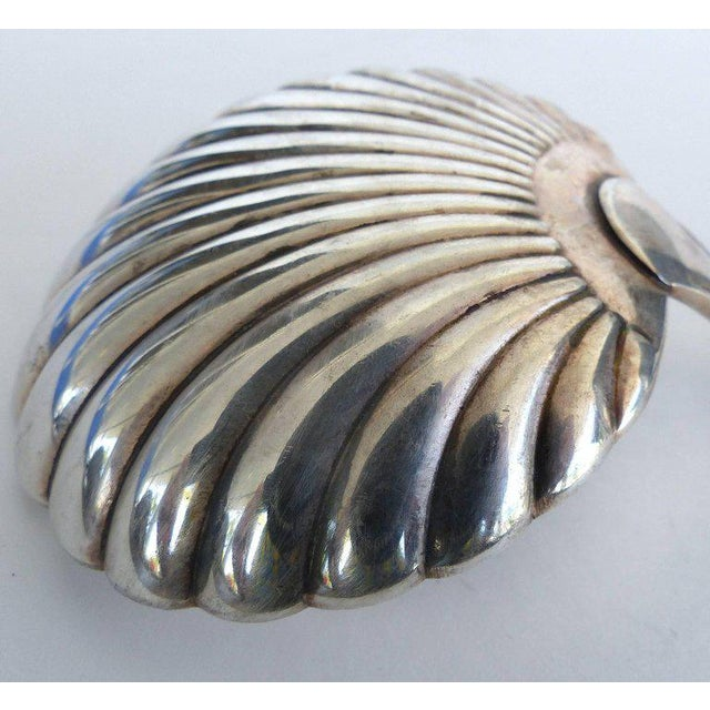 Metal Elegant Sterling Silver Berry Spoon by Mario Buccellati For Sale - Image 7 of 8