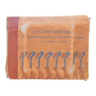 1902 Original Klinger Book, La Ligne Grotesque Et Des Variations Dans La Décoration Moderne