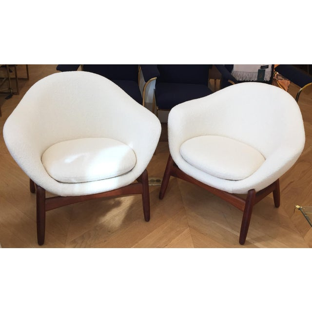 "Mid-Century Ib Kofod-Larsen ""Pot"" Chairs- a Pair For Sale - Image 10 of 10"