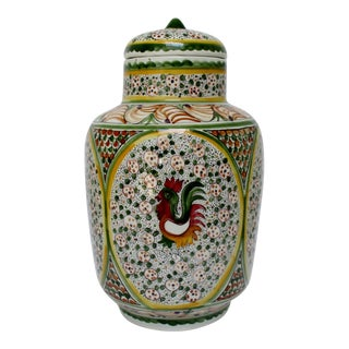 Portuguese Hand-Painted Canister For Sale