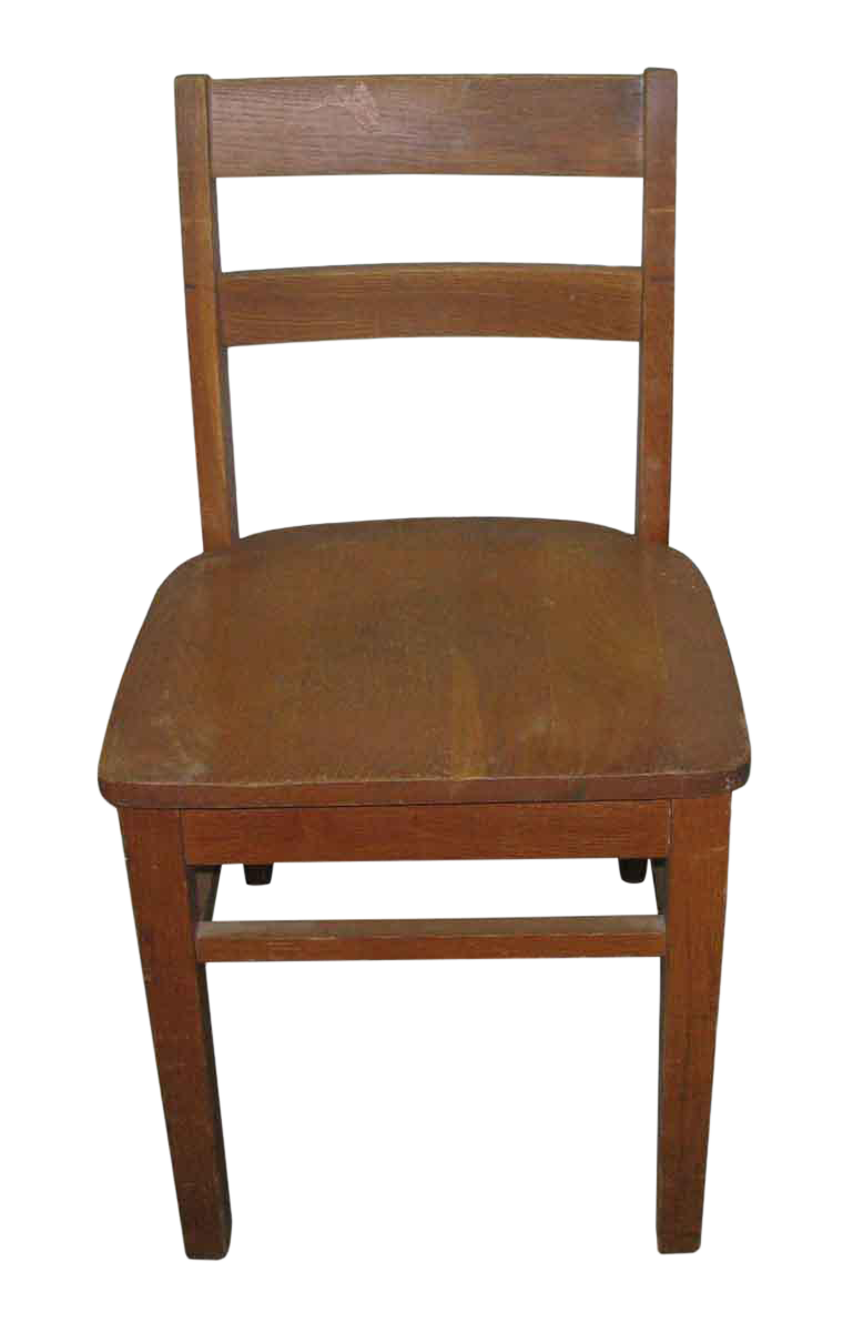 Old Maple Wooden Ladder Back School Chair