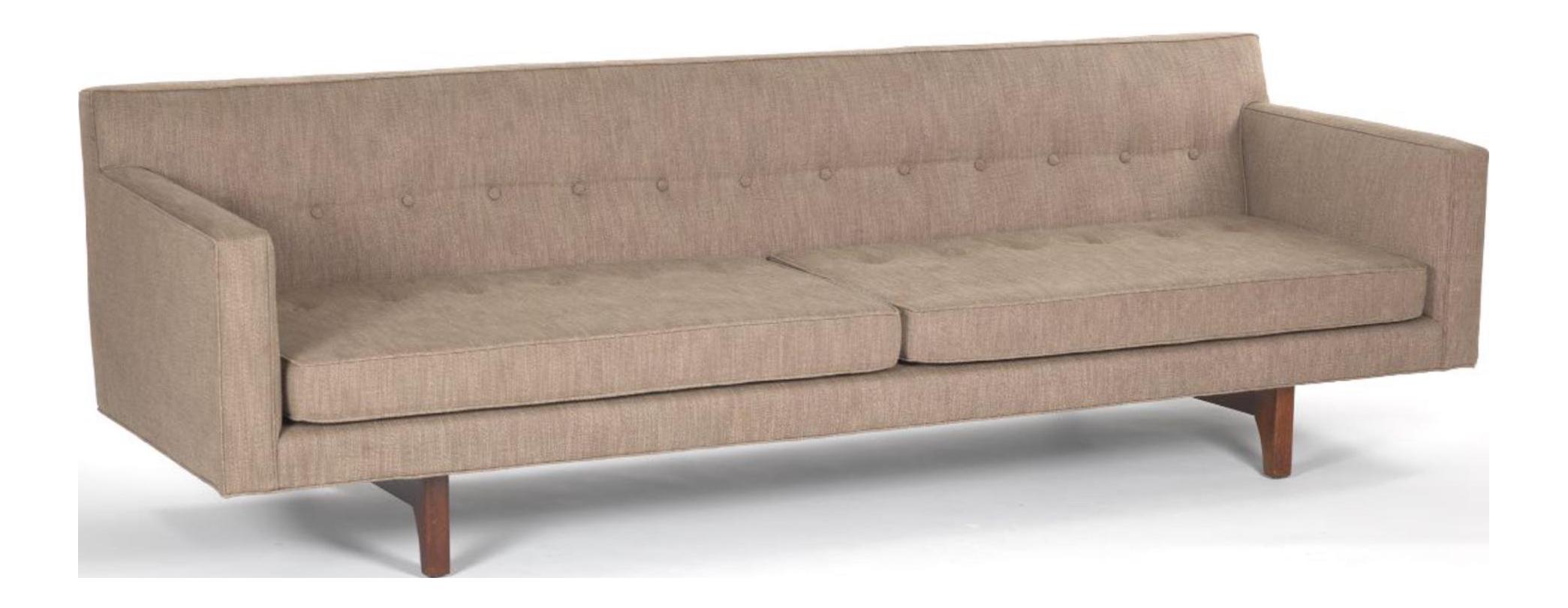 Bracket Back Sofa By Edward Wormley For Dunbar   Image 1 Of 6
