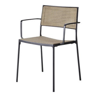 Cane-Line Less Armchair, Stackable, Light Gray For Sale