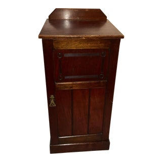 1940s Traditional Mahogany European Night Stand For Sale