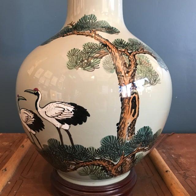 Vintage Asian Celadon Ceramic Lamp - Image 6 of 8