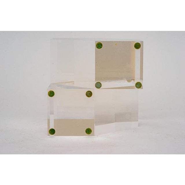 Plastic Geometric Form Lucite Sculpture For Sale - Image 7 of 11