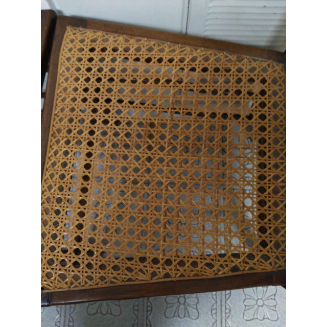 Cane Seat Wood Chairs - A Pair - Image 7 of 10