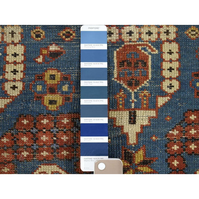 Shahbanu Rugs Antique Caucasian Kazak Even Wear Hand Knotted Rug- 3′10″ × 6′3″ For Sale - Image 4 of 8