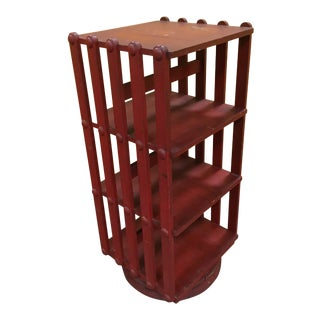 Industrial Rotating Bookcase For Sale