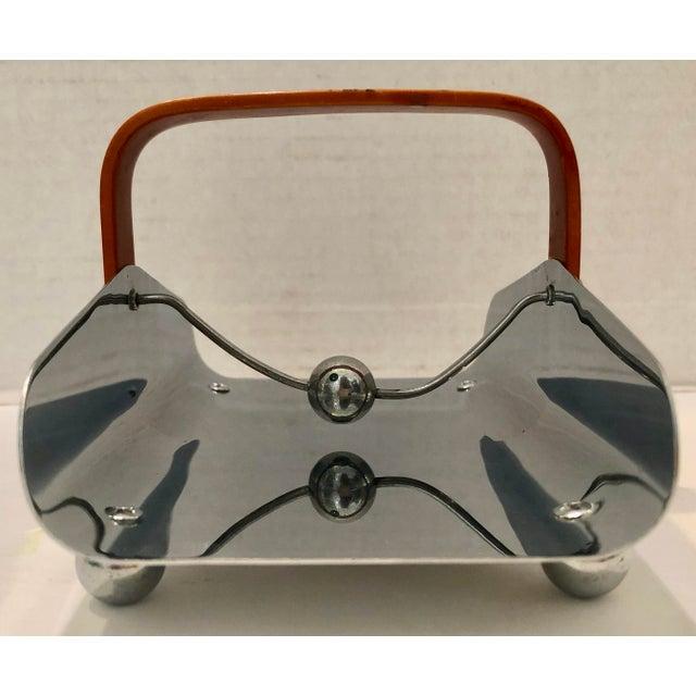 Art Deco Bakelite & Chrome Napkin Holder For Sale In Miami - Image 6 of 9