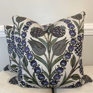 "Thibaut ""Corneila"" in Purple/Blue 22"" Pillows-A Pair Preview"