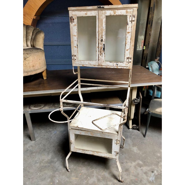 1930's Vintage American Painted Steel Supply Cabinet For Sale - Image 11 of 11