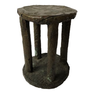 Antique Cameroon Bronze African Stool For Sale