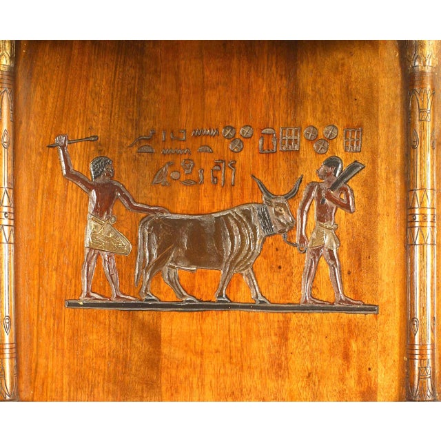 Brown Egyptian Style Painted Hanging Wall Cabinet For Sale - Image 8 of 10