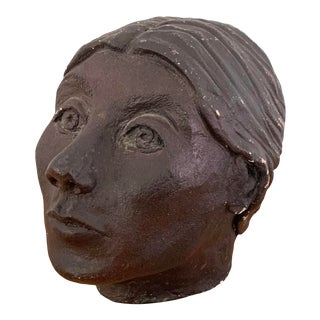 Vintage Studio Pottery Bust For Sale