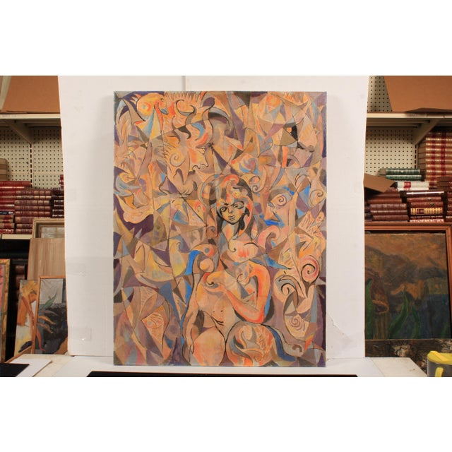 1983 Abstract Spiritual Portrait by Lars Larsen For Sale - Image 4 of 4