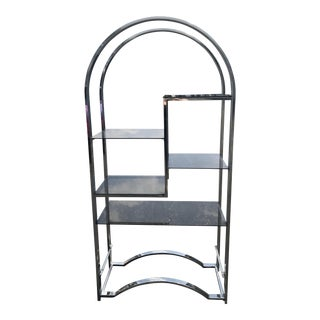 Milo Baughman Chrome Arched Etagere For Sale
