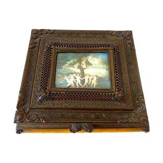 "19th-C. French Bronze / Bakelite Jewelry Box 7.25"" W For Sale"