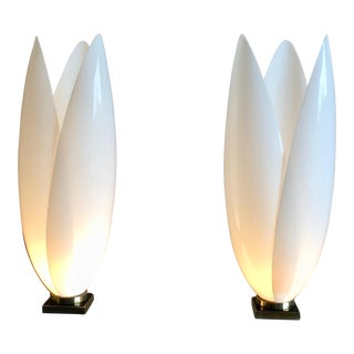 Rougier Acrylic Table Lamps - a Pair
